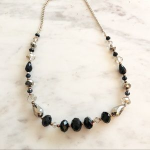 Jewelry - Black and Clear Beaded Necklace